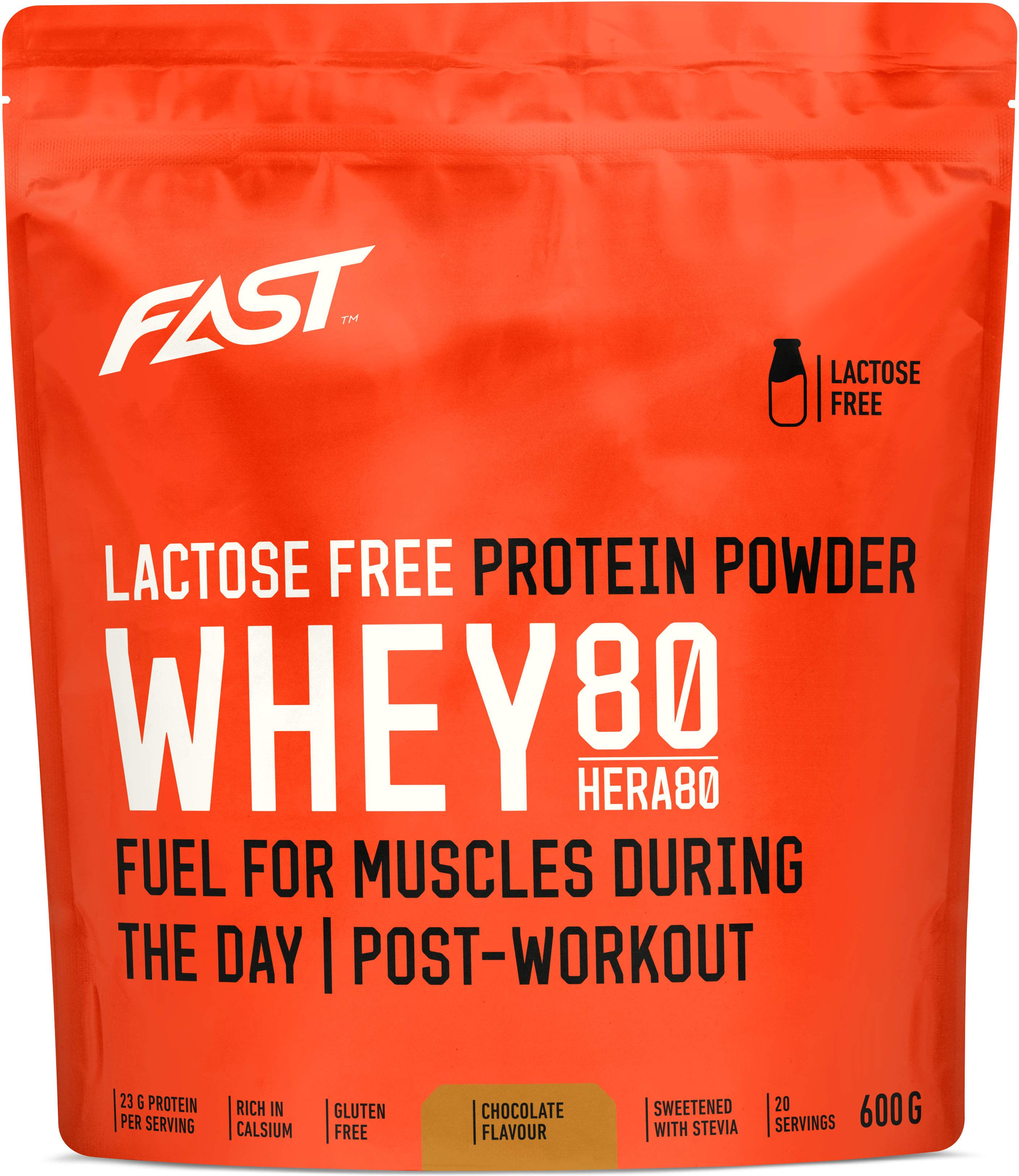 Poeder FAST Whey80 600 g chocolate lactose free
